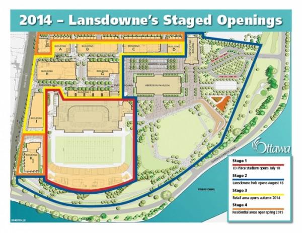 Lansdowne Park Opening Map