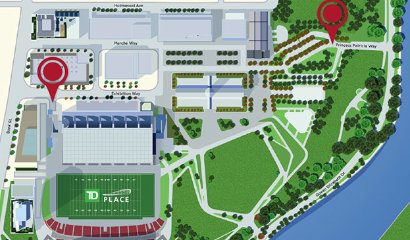 Parking at TD Place